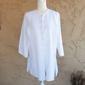 Eileen Fisher - Irish Linen White Tunic